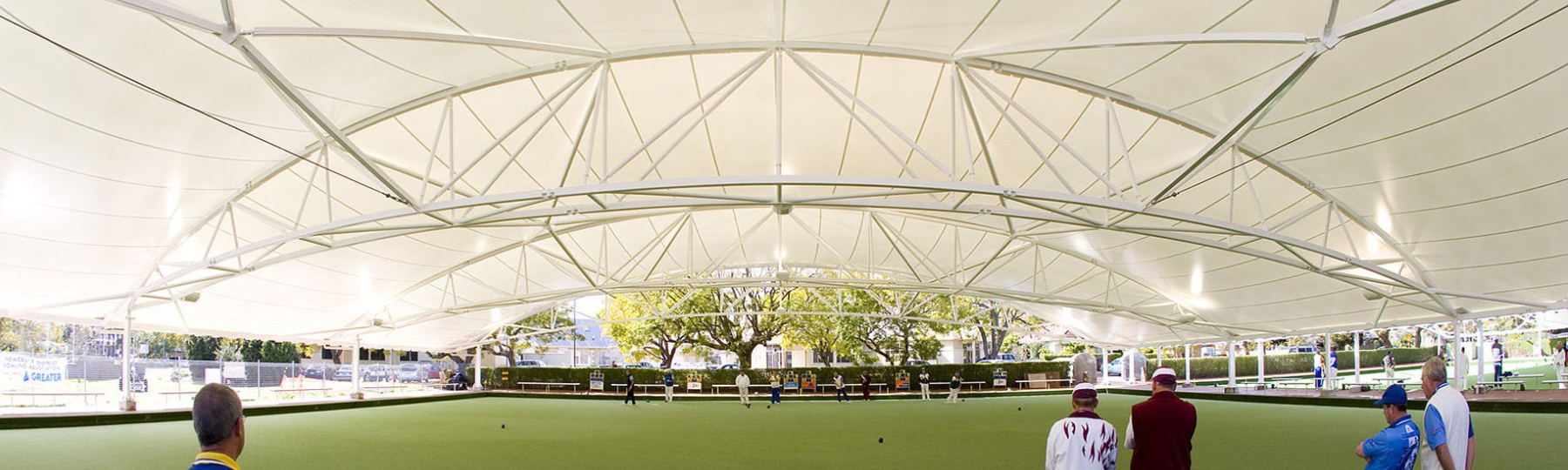 Shade to Order Australia | Raymond Terrace Bowling Club Shade Structures for bowling greens