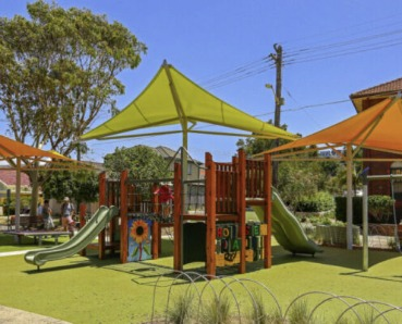 Premium playground shade sails over equipment by Shade to Order, Newcastle, Sydney, NSW