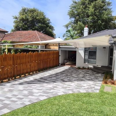 Carport shade sail designed by Shade To Order, Sydney, Newcastle, NSW