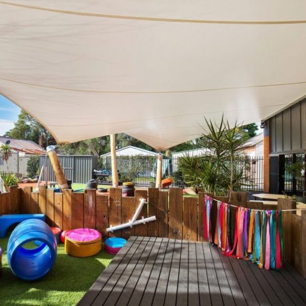 Shade structure for childcare centre